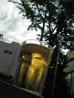 青空ビールで幸せ